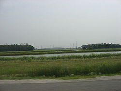 Lake and fields in southeastern Lake Township