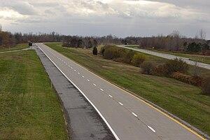 Lake Ontario State Parkway - Lake Ontario State Parkway west of Kendall
