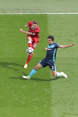 Fábio (footballer) - Fábio (right) in action for Middlesbrough against Liverpool, 2017