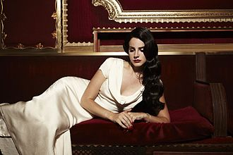 """Burning Desire (song) - Del Rey in a promotional photograph taken during the filming of the music video for """"Burning Desire""""."""