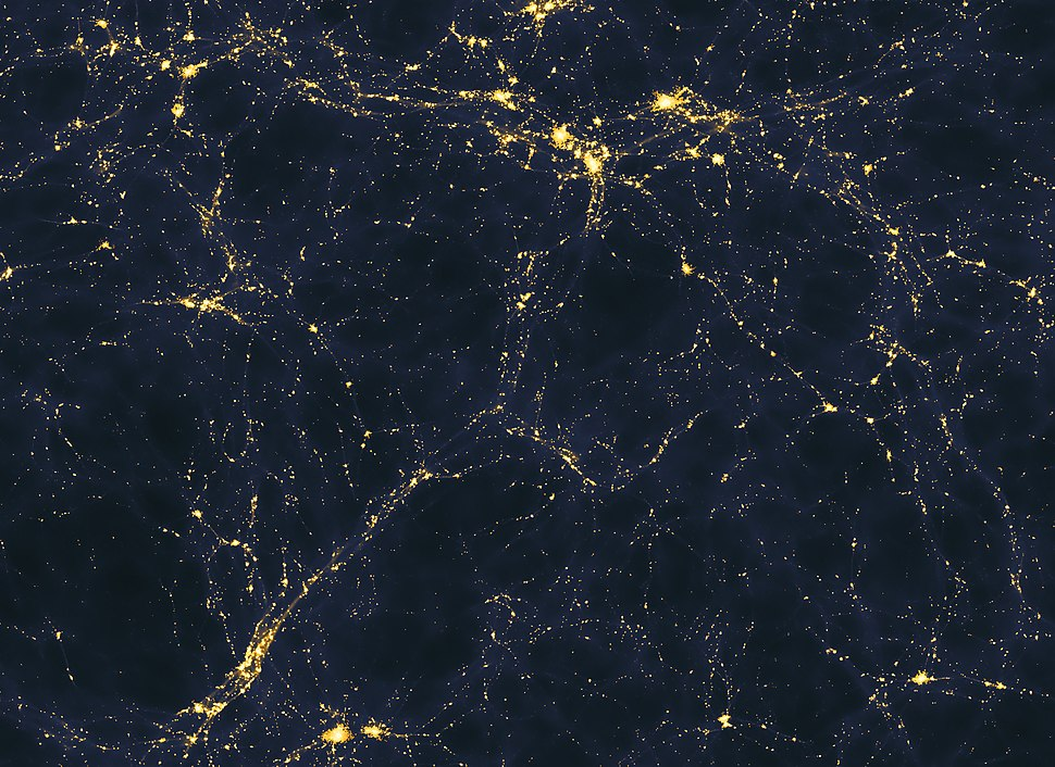 Large-scale structure of light distribution in the universe
