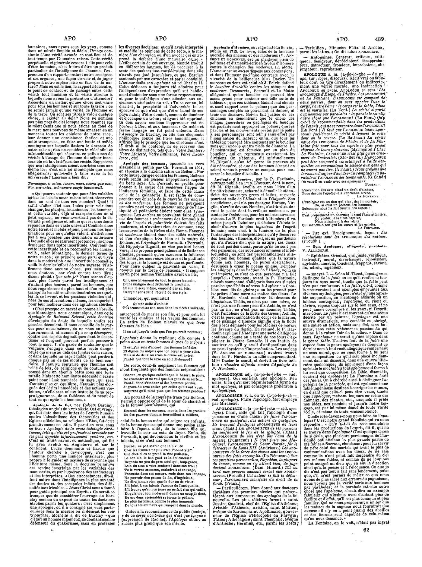 Page Larousse Grand Dictionnaire Universel Du Xixe Siecle Tome 1