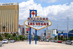 Skyline of City of Las Vegas Nevada