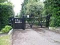 Latimer House gates, Hadley Common road.JPG