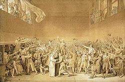 ElJuramento del Juego de Pelota, obra deJacques-Louis David.