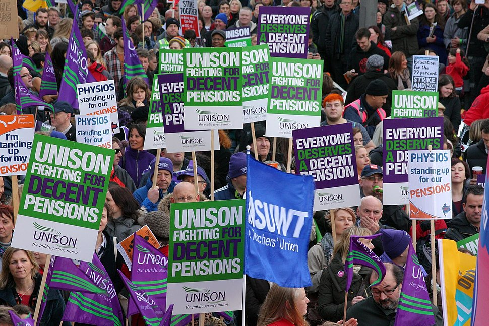 Leeds public sector pensions strike in November 2011 9
