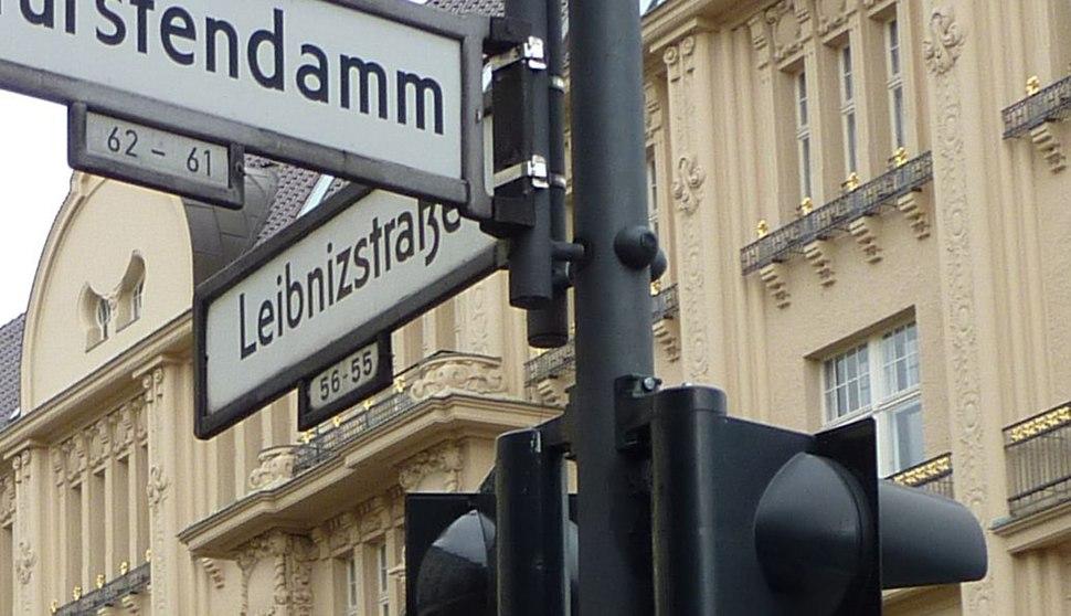 Leibnizstrasse street sign Berlin