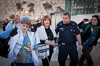 Women of the Wall - Women detained for wearing prayer shawls; photo from Women of the Wall
