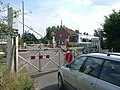 Level crossing at Eccles Road station - geograph.org.uk - 223196.jpg