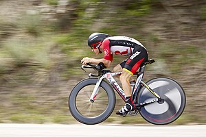 English: Levi Leipheimer, in the prologue of t...