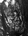Lewis Witt in tunnel inside Esther Mine, near Gold Creek, Kittitas County, 1898 (LL 1048).jpg