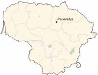 パネヴェジスの位置
