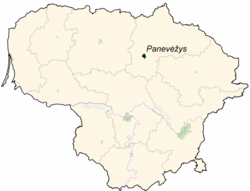 Location of Panevėžys
