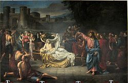 Jean-Baptiste Wicar: The resurrection of the son of the widow of Naim