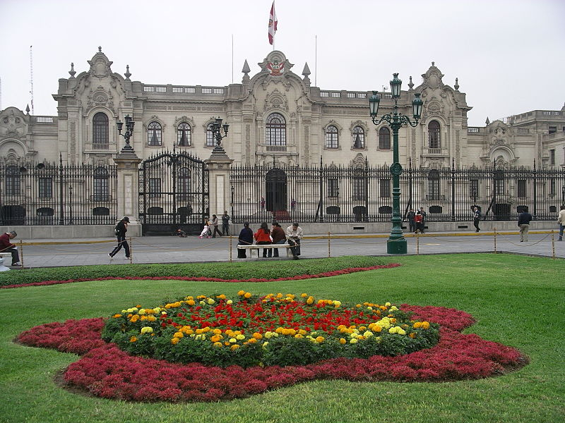 Palacio de gobierno en Lima