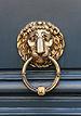 Lion head brass door knocker central Paris 2012-06-01.jpg
