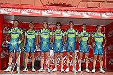 La squadra Liquigas all'Euskal Bizikleta del 2007
