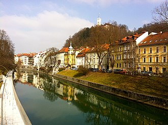 Jacobus Gallus - Gallus Embankment in Ljubljana