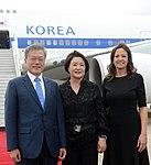 Llegada de Moon Jae-in, presidente de Corea del Sur (45190050425).jpg