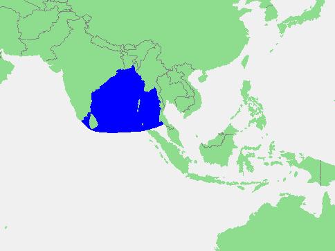 Locatie Golf van Bengalen