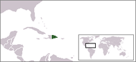 A map showing the location of Dominican Republic