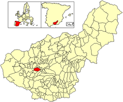 Location of Las Gabias