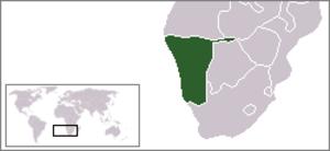 Namibian Police Force - Image: Location Namibia