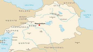 Location of Tigranocerta within the Kingdom Armenia-hy.png