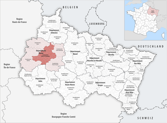 Arrondissement of Châlons-en-Champagne - Image: Locator map of Arrondissement Châlons en Champagne 2017