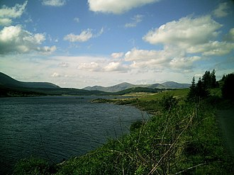 Kirkcudbrightshire - Loch Doon with Rhinns of Kells in the background