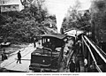 Locomotive of the Yakutat and Southern Railway at station, Yakutat, circa 1920 (AL+CA 488).jpg