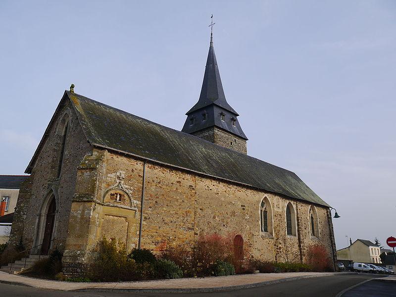 L'église Saint-Aubin.