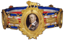 This image depicts the second version of the lonsdale belt, as described in British Board of Boxing Control
