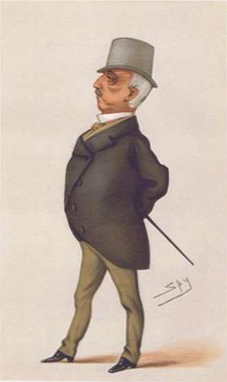 """Lord George Paget - """"a soldier"""" Paget as caricatured by Spy (Leslie Ward) in Vanity Fair, October 1877"""