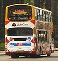 Lothian Buses bus 709 Volvo B7TL Wrightbus Eclipse Gemini SN55 BKJ Harlequin livery Route 3 Club Class route branding.jpg