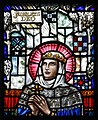"Loughrea St. Brendan's Cathedral East Transept ""Naoṁ Clár"" & ""Naoṁ Proinnseas"" by Alfred Ernest Child Detail St. Francesca 2019 09 05.jpg"