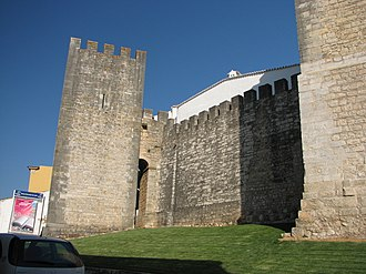 Loulé - The walls of the Castle of Loulé, reconstructed during the Nationlist Estado Novo era