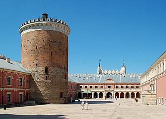 Lublin - Castle courtyard with a fortified keep