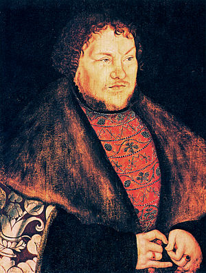Joachim I Nestor, Elector of Brandenburg - portrait by Lucas Cranach the Elder, 1529