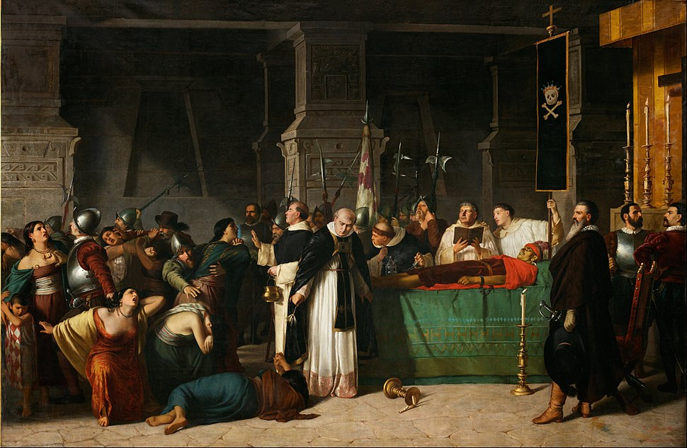 Luis Montero - The Funerals of Inca Atahualpa - Google Art Project
