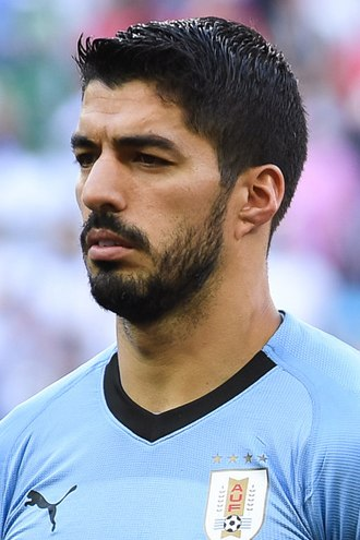 Luis Suárez - Suárez lining up for Uruguay at the 2018 FIFA World Cup