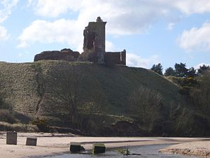 Red Castle, Angus - Red Castle above the Lunan Water