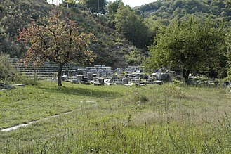 Lycosura - View southeast toward the Temple of Despoina at Lycosoura