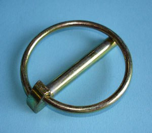 Linchpin - A linchpin with an integral spring retainer