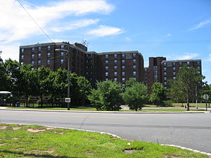 Livingston Campus (Rutgers University) - Ernest A. Lynton Towers, named after the first Dean of Livingston College -- the tallest buildings on Livingston Campus.