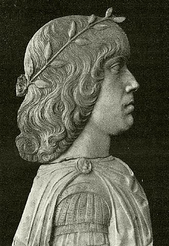 Matthias Corvinus - Matthias Corvinus as young monarch. Museum of Sforza Castle, Milan, Italy.