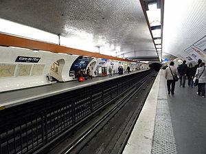 Gare de l'Est (Paris Métro) - Image: Métro de Paris Gare de l'Est Ligne 4 01