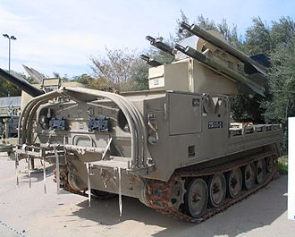 MIM-72 Chaparral - Image: M730 Chapparal hatzerim 1
