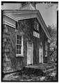 MAIN ELEVATION FROM SOUTHWEST - Cobblestone Schoolhouse, Ridge Road (U.S. Route 104), Childs, Orleans County, NY HABS NY,37-CHILD,2-2.tif
