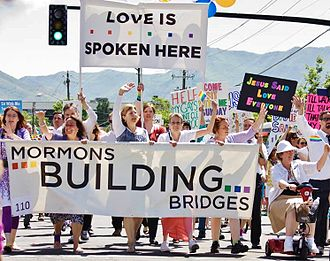 Mormons Building Bridges - Over 400 Mormons marched in the 2014 SLC Pride Parade - Photo by Jay Jacobsen